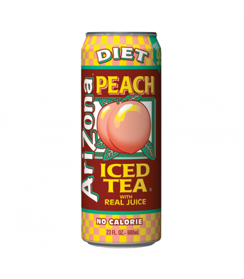 Arizona Diet Peach Tea 23.5oz (695ml) Iced Tea Arizona