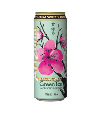 Arizona Green Tea Extra Sweet 23oz (680ml) Iced Tea Arizona