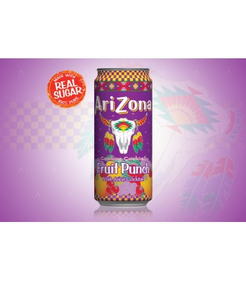 Arizona - Fruit Punch SLIM CAN 11.5oz (340ml)  Soda and Drinks Arizona
