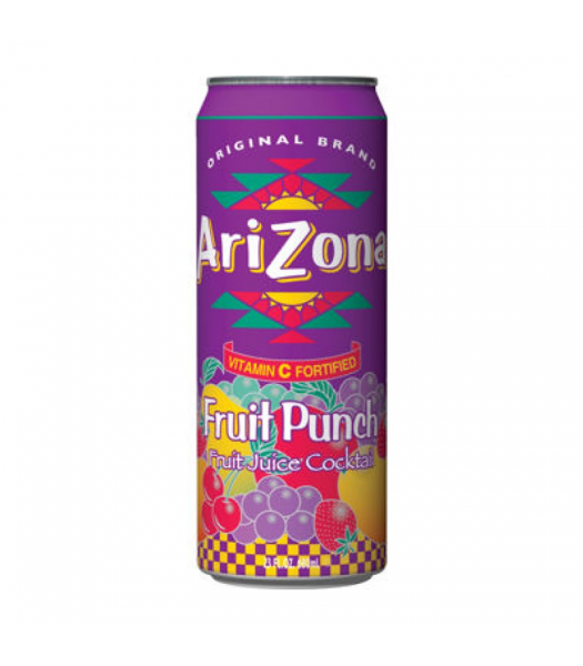 AriZona Fruit Punch 23oz (680ml) Large Can Soda and Drinks Arizona
