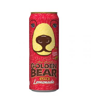 AriZona Golden Bear Lite Strawberry Lemonade - 23fl.oz (680ml) Soda and Drinks Arizona