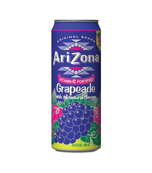 AriZona Grapeade 23.5oz (695ml) Soda and Drinks Arizona