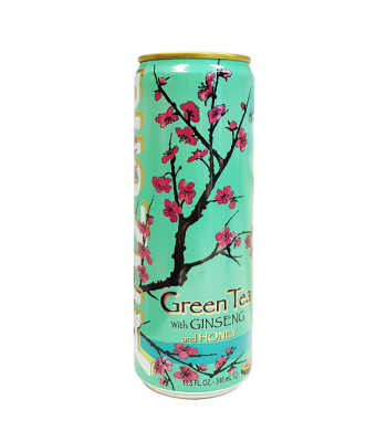 Arizona - Green Tea w/ Ginseng & Honey - SLIM CAN 11.5oz (340ml)  Soda and Drinks Arizona