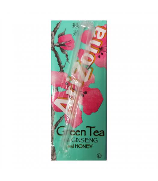 AriZona Green Tea with Ginseng and Honey Carton 6.75fl.oz (200ml) Iced Tea Arizona