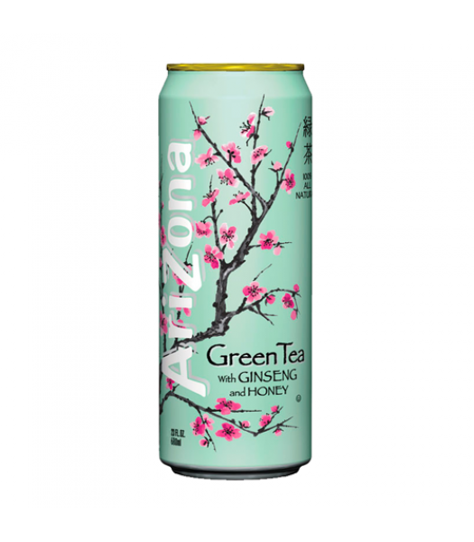 AriZona Green Tea with Ginseng and Honey 23oz (680ml) - American Fizz 4d62502c9b8