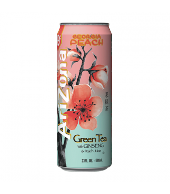 Arizona Green Tea with Ginseng and Peach 23.5oz (695ml) Iced Tea AriZona