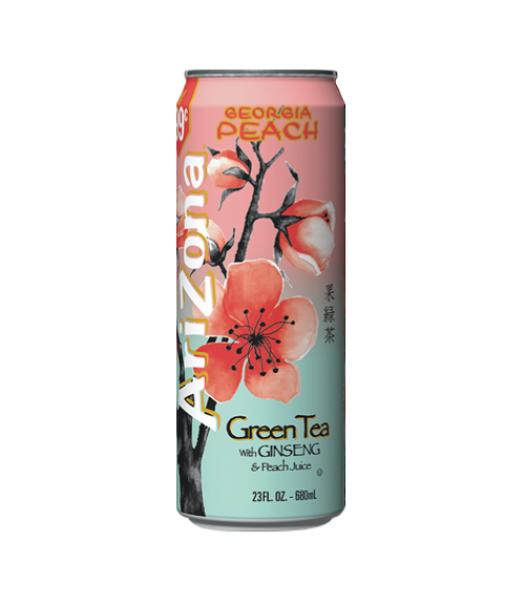 Arizona Green Tea with Ginseng and Peach 23.5oz (695ml) Iced Tea AriZona