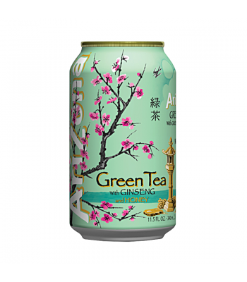 AriZona Green Tea with Ginseng and Honey 11.5oz (340ml) Iced Tea Arizona