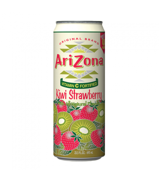AriZona Kiwi Strawberry 23.5oz (695ml) Soda and Drinks Arizona