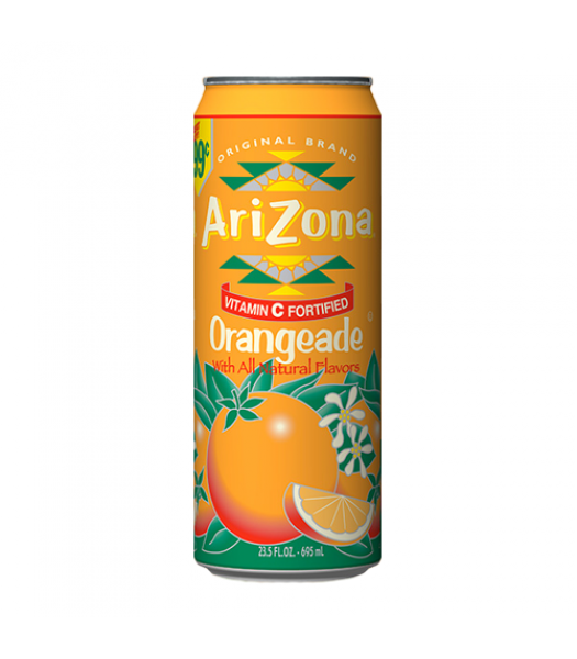 AriZona Orangeade 23.5oz (695ml) Fruit Juice & Drinks Arizona
