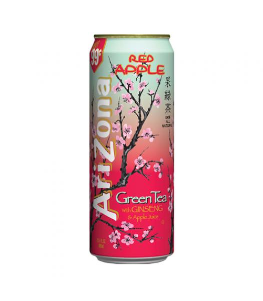 AriZona Red Apple Green Tea /w Ginseng & Apple Juice - 23fl.oz (680ml) Iced Tea Arizona