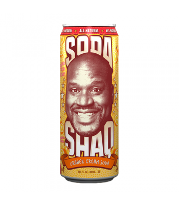 Arizona Shaq Soda Orange Cream Soda 23.5oz (695ml) Regular Soda AriZona