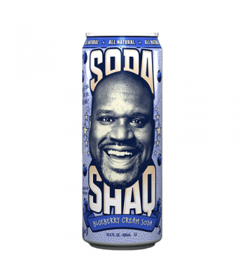 Clearance Special - Arizona Shaq Soda Blueberry Cream Soda 23.5oz ** Damaged **  Clearance Zone