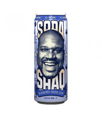 Arizona Shaq Soda Blueberry Cream Soda 23.5oz (695ml) Regular Soda AriZona