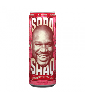 Arizona Shaq Soda Strawberry Cream Soda 23.5oz (695ml) Regular Soda AriZona