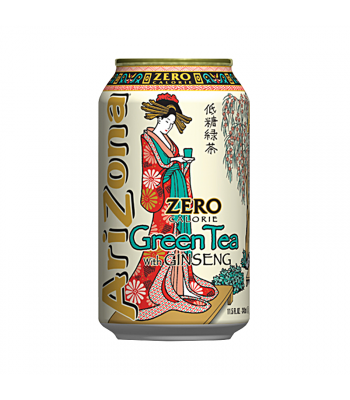 AriZona Zero Calorie Green Tea with Ginseng 11.5oz (340ml) Iced Tea Arizona