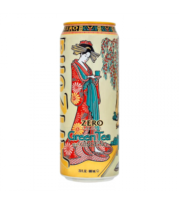 Arizona Zero Calorie Green Tea with Ginseng 23fl.oz (680ml) Iced Tea Arizona