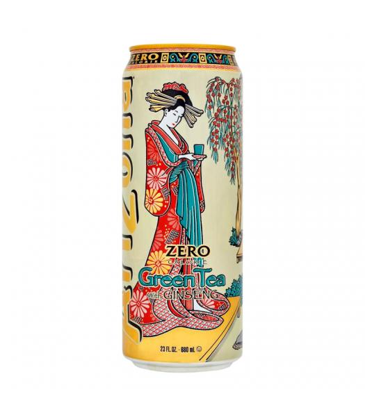 Arizona Zero Calorie Green Tea with Ginseng 23fl.oz (680ml) Iced Tea Arizona