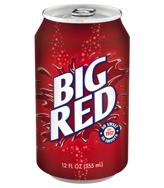 Big Red Soda 355ml Regular Soda Big Red Soda