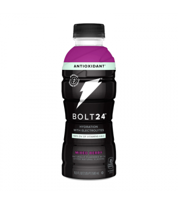 BOLT24 Sports Drink Mixed Berry - 16.9oz (500ml) Soda and Drinks