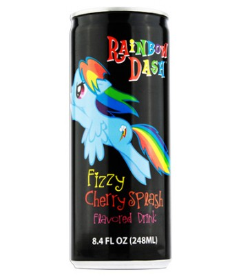 My Little Pony Rainbow Dash - Fizzy Cherry Splash Energy Drink 8.4fl.oz (248ml) Energy & Sports Drinks
