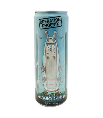 Rick & Morty Operation Phoenix Clone Serum Energy Drink - 12fl.oz (355ml) Soda and Drinks Boston America