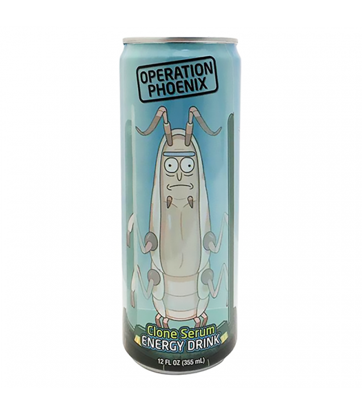 Rick & Morty Operation Phoenix Clone Serum Energy Drink - 12fl.oz (355ml) Soda and Drinks Boston America