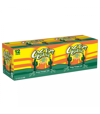 Cactus Cooler Orange Pineapple Soda - 12oz (355ml) 12-Pack Soda and Drinks