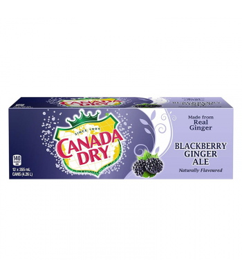 Canada Dry Blackberry Ginger Ale - 12-Pack (12 x 12fl.oz (355ml)) Soda and Drinks Canada Dry