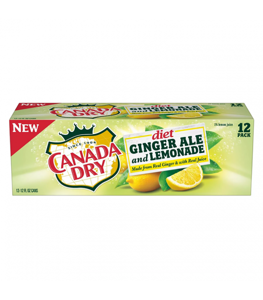 Canada Dry Diet Ginger Ale and Lemonade - 12-Pack (12 x 12fl.oz (355ml))