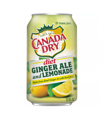Canada Dry Diet Ginger Ale and Lemonade - 12fl.oz (355ml)