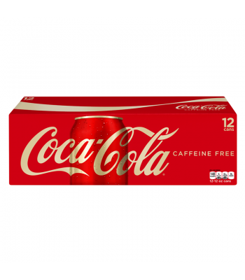 Coca Cola Caffeine Free 12oz 355ml cans 12 pack Regular Soda Coca-Cola