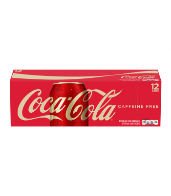 Coca Cola Caffeine Free 12oz 355ml cans 12 pack Regular Soda Coca-Cola