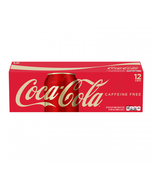 Coca Cola Caffeine Free 12oz 355ml cans 12 pack Soda and Drinks Coca Cola
