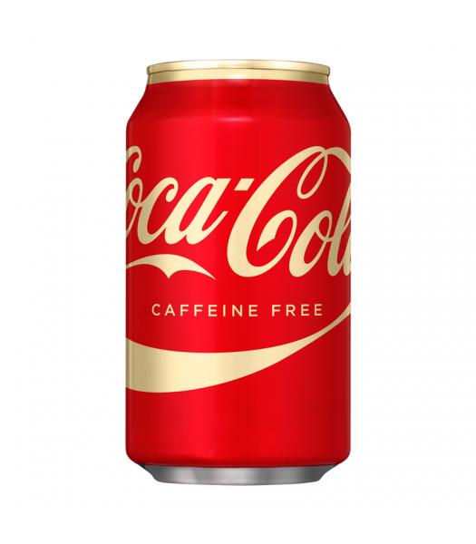 Coca Cola Caffeine Free 12oz (355ml) can Regular Soda Coca Cola