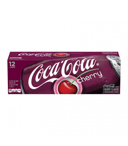 Coca Cola Cherry 12fl.oz (355ml) Can 12-Pack Soda and Drinks Coca Cola