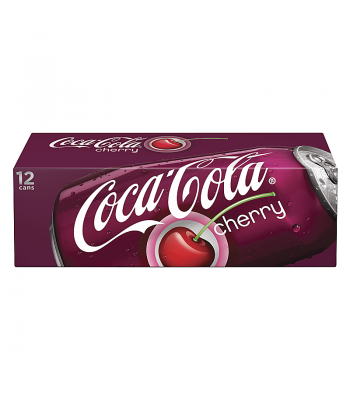 Coca Cola Cherry 12fl.oz (355ml) Can 12-Pack Regular Soda Coca Cola