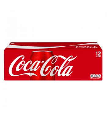 Coca Cola Classic American 12 pack cans Regular Soda Coca-Cola