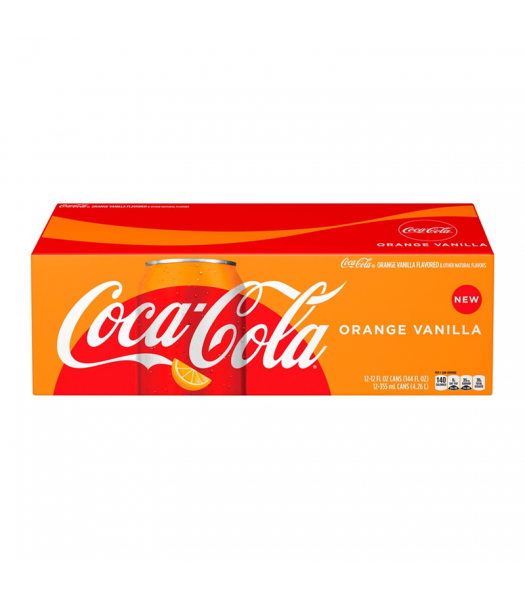 Coca Cola Orange Vanilla 12fl.oz (355ml) - 12-Pack Soda and Drinks Coca Cola