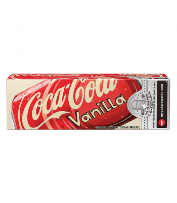 Coca Cola Vanilla 12fl.oz (355ml) Can 12-Pack Regular Soda Coca-Cola