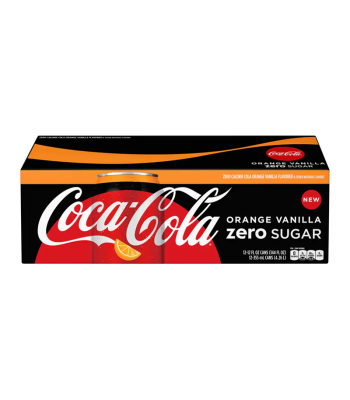 Coca Cola ZERO Orange Vanilla 12fl.oz (355ml) - 12-Pack Soda and Drinks Coca Cola