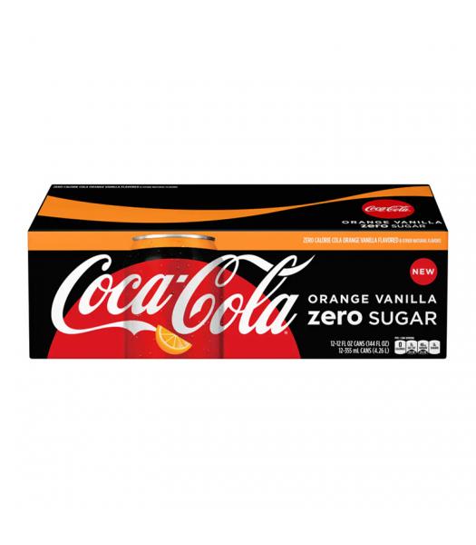 Coca Cola ZERO Orange Vanilla 12fl.oz (355ml) - 12-Pack Soda and Drinks Coca Cola