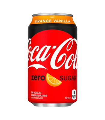 Clearance Special - Coca Cola ZERO Sugar Orange Vanilla - 12fl.oz (355ml) ** Best Before: March 20 ** Clearance Zone