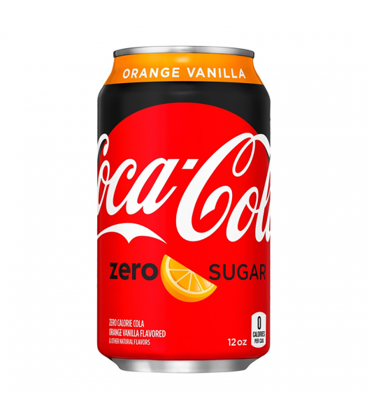 Coca Cola ZERO Sugar Orange Vanilla - 12fl.oz (355ml) Soda and Drinks Coca Cola