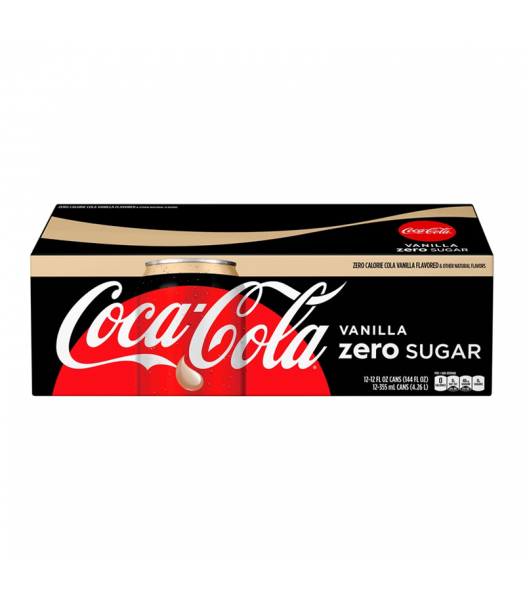 Coca Cola Vanilla Zero 12-Pack Cans (12 x 12fl.oz (355ml)) Soda and Drinks Coca Cola