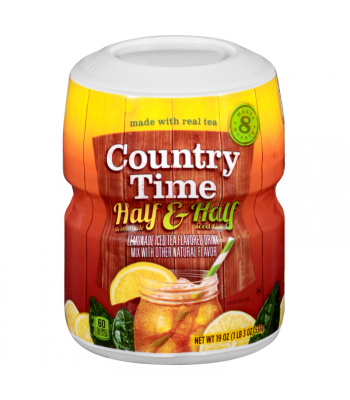 Clearance Special - Country Time Half and Half Lemonade Tea Drink Mix 19oz (538g) ** Label Damage ** Clearance Zone