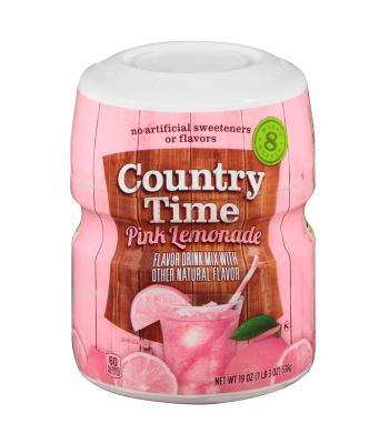 Country Time Pink Lemonade Mix 19oz (538g) Drink Mixes Country Time