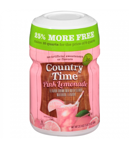 Country Time Pink Lemonade - Bonus Pack 23.9oz (680g) Drink Mixes Country Time