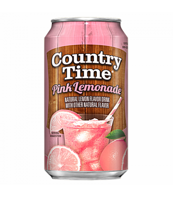 Country Time Pink Lemonade 12fl.oz (355ml) Can Regular Soda Country Time