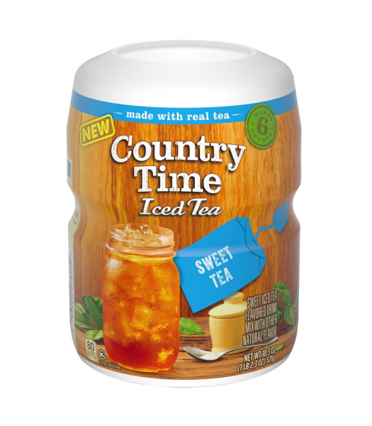Country Time - Sweet Iced Tea Drink Mix - 18.3oz (521g) Soda and Drinks Country Time